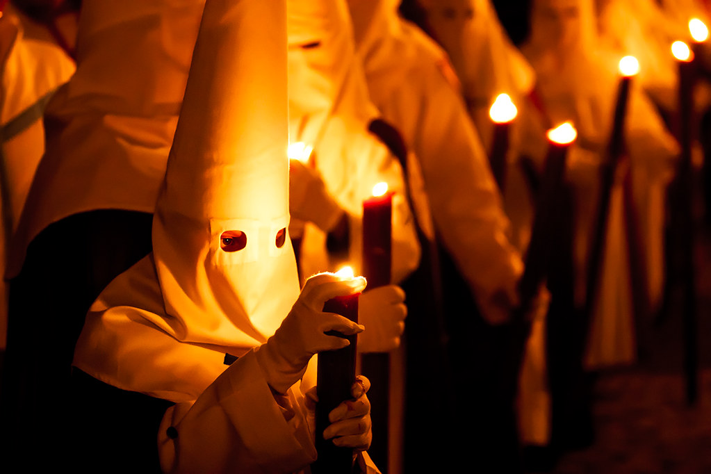 Holy Week penitents in Andalusia Spain