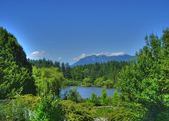 North Shore Mountains Rising Over Lost Lagoon