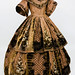1850s Printed & Voided Velvet Gown by Sacheverelle