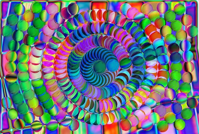 Spiral of balls