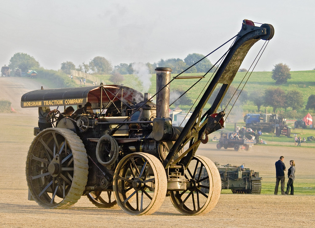 Showman's engine with crane at the Great Dorset Steam Fair