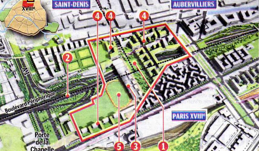 Paris porte de la chapelle zac intercommunale - Porte d aubervilliers plan ...