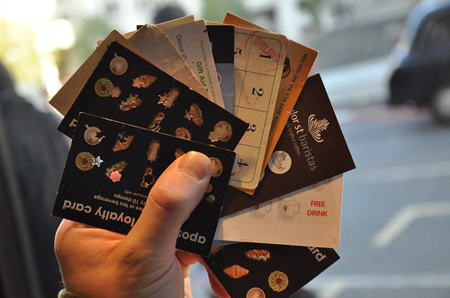 So many coffee loyalty cards