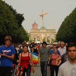 Crowds Walking to Hear Barack Obama- Berlin, Germany
