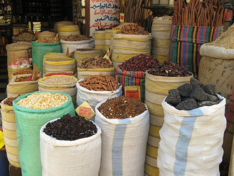 Spices in a Cairo market