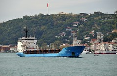 'Olga' heading to the Black Sea, Bosphorus, Istanbul, Turkey, 20 September 2008