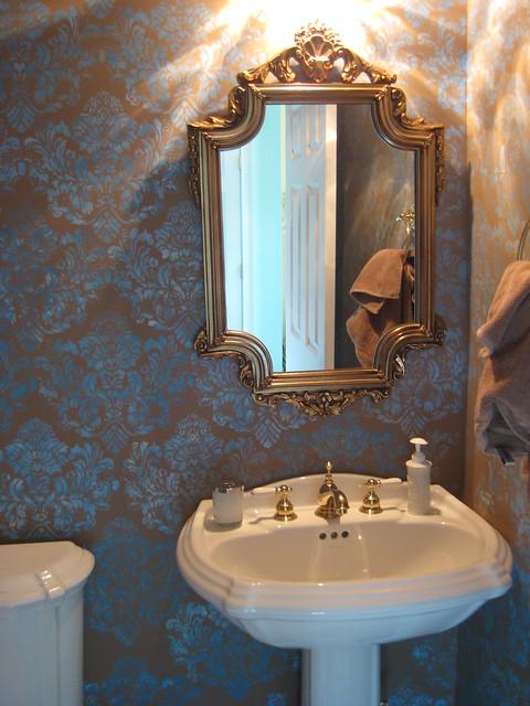 Powder Room Wall Treatment | Flickr - Photo Sharing!