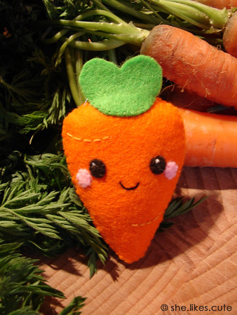 Shop update: cute carrot pin | Blogged here © she.likes ...