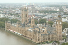 Big Ben and Houses of the Parliament from the London Eye