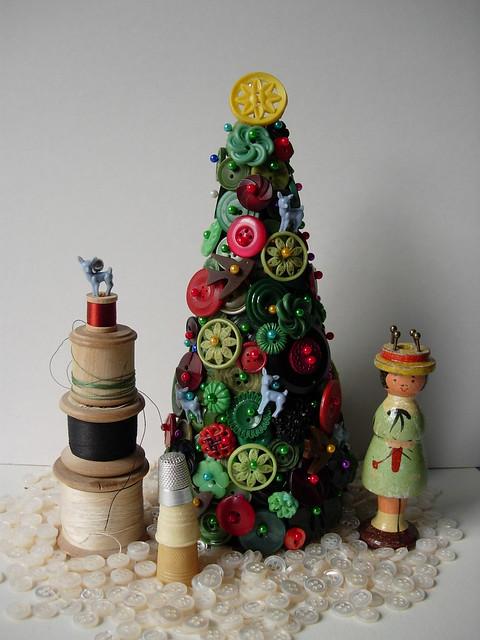 vintage haberdashery christmas trees