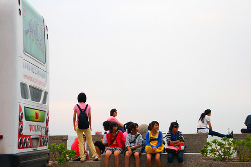students and bus