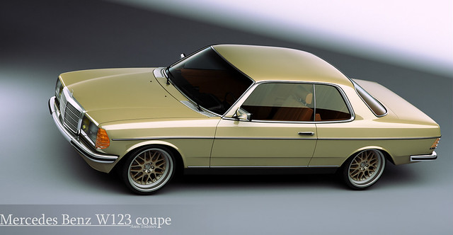 Mercedes Benz W123 Coupe This Is 3d Model Of The W123