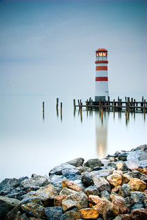 Lighthouse Podersdorf on a December morning