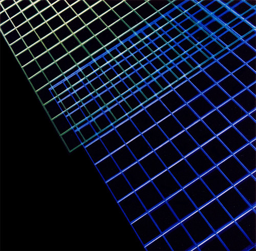 Corporate Art: Honeywell Lighted Acrylic Grid by Phil Manker