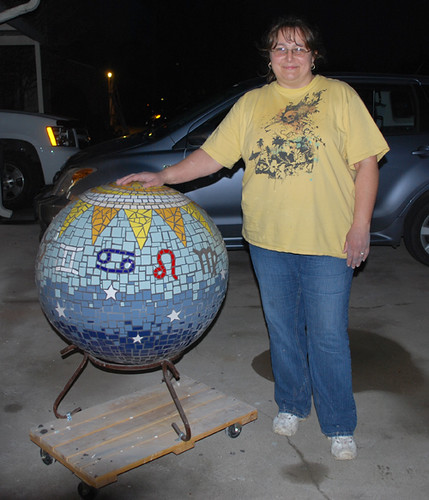 DONE me and my giant zodiac ball