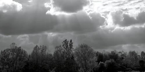 light clouds god rays