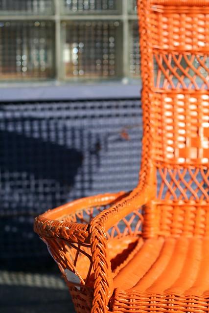 orange chair