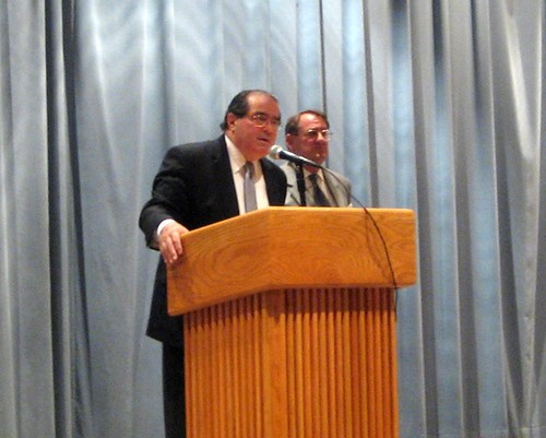 Justice Scalia and Dean Jeffries