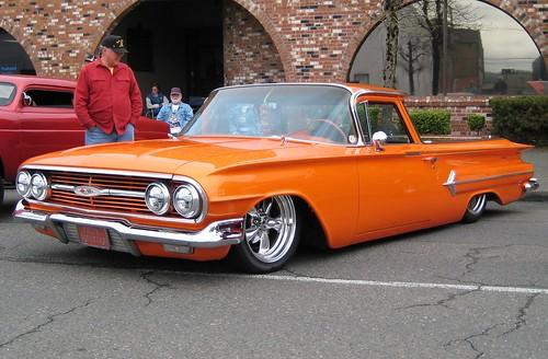 auto street orange chevrolet truck washington automobile antique machine pickup ute aberdeen chevy american elcamino custom 1960
