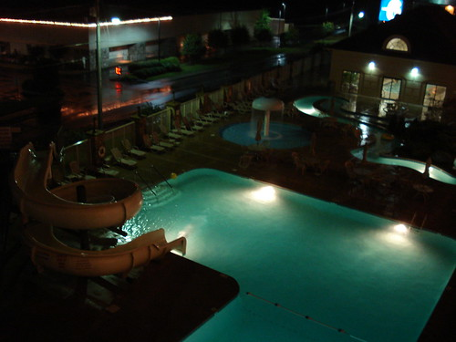 Pool, lazy river and play area