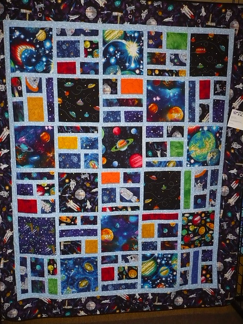 Outer space quilt flickr photo sharing for Outer space quilt patterns