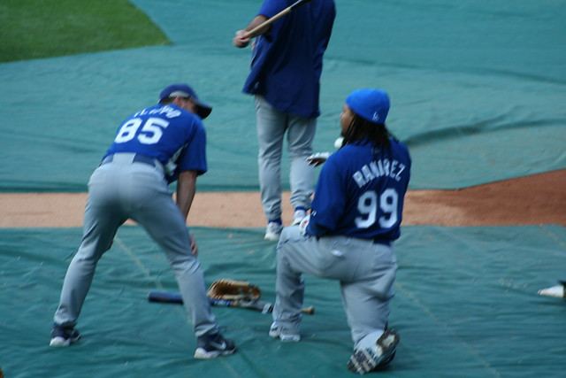Flippo & Ramirez at batting practice from Flickr via Wylio
