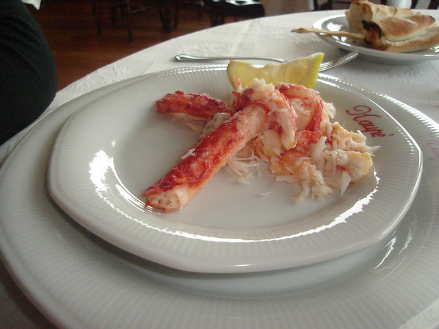 King crab in Ushuaia Argentina - Centolla fresca