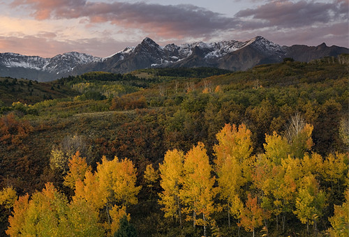 morning autumn light sunset sky cloud mountain snow fall nature colors beautiful sunrise season landscape dallas colorado peak co getty change environment telluride serene aspen tranquil ridgway divide ridgeway ouray naturesfinest sneffels canonxsi