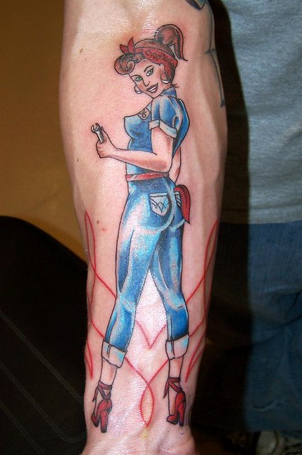 pin up girl tattoo | Flickr - Photo Sharing!
