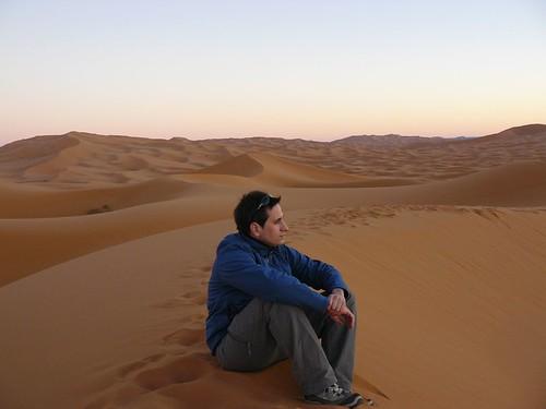 En las Dunas de Merzouga (Marruecos)