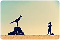Desert posing