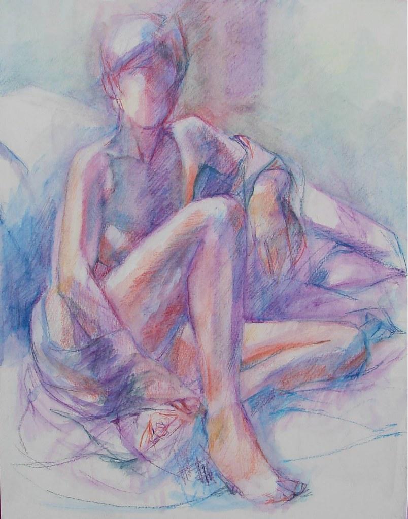 diane draped watercolor