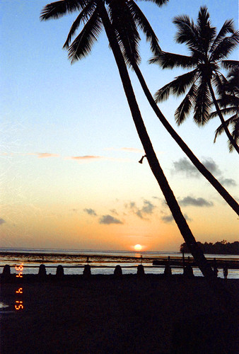 Sunset at Warwick Fiji Resort