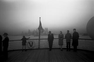 Jack Delano: Lower Manhattan from the S.S. Coamo leaving New York, 1941