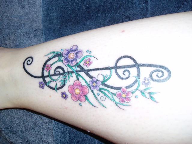 My Treble Clef Tattoo