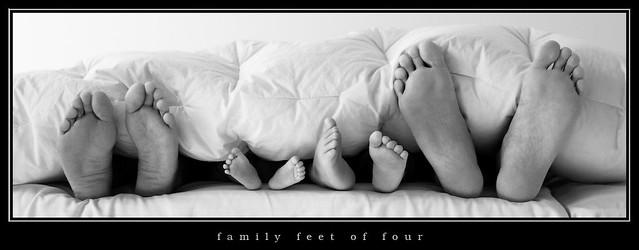 family feet of four