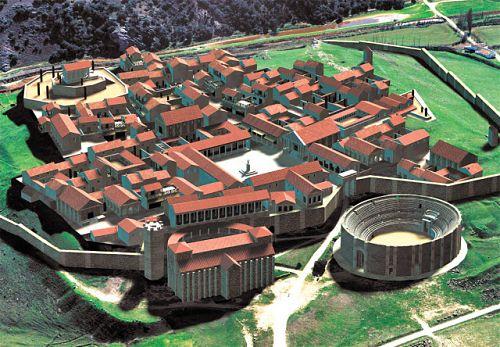 Virtual image of the reconstructed roman city, Parque Arqueológico de Segóbriga