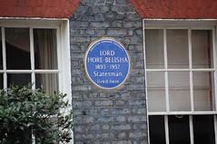 Photo of Leslie Hore-Belisha blue plaque
