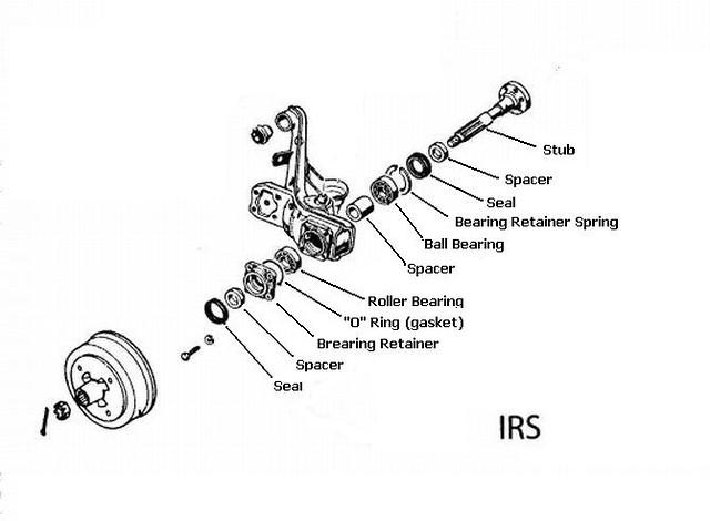 vw swing axle seal diagram
