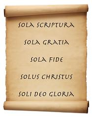 다섯 솔라에 관한 성경구절