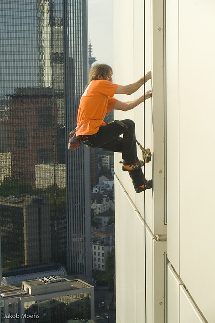 Scaling the building