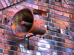 Alarm horn on main house (HDR)