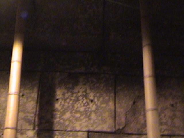 """The Eye of Mara Sees Deceit"" Hidden Message, Avenue of Voices, Indiana Jones™ Adventure - Temple of the Forbidden Eye, Adventureland, Disneyland®, Anaheim, California, 2008.06.09 00:08"