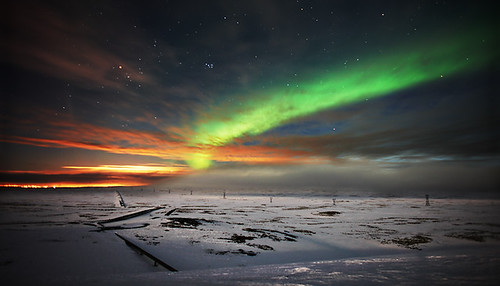 blue winter red orange white snow black cold green ice night sunrise landscape iceland nightscape gray