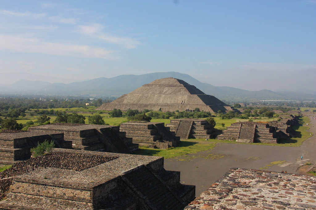 Piramide del Sol from Piramide de la Luna, Teotihuacan, Mexico