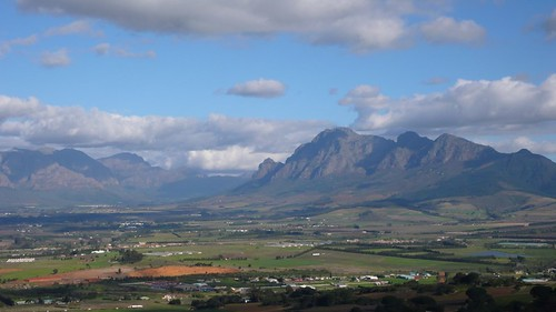 mountains southafrica plains paarl