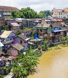 The Houses By The River in Indonesia