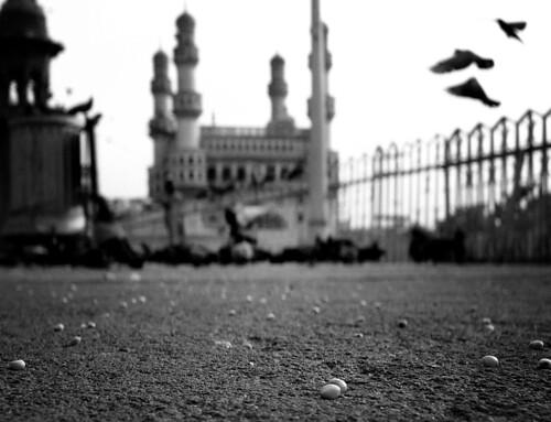 morning blackandwhite india history architecture pigeons photowalk grains hyderabad hpc charminar krishlikesit