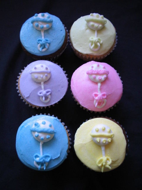 Baby rattle cupcakes | Explore Giggy's Cakes and Sweets' pho ...