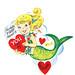 Vintage Mermaid Valentine! by Lisa Kettell